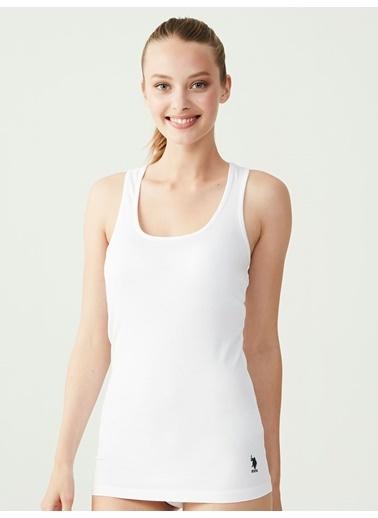 U.S. Polo Assn. Sporcu Atlet Beyaz